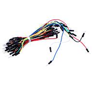 Elektronische DIY 65pcs Breadboard Brücker-Kabel - Multicolor
