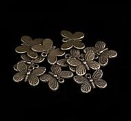 encantos de liga de bronze bonito bowknot 20 unidades / saco (bronze)