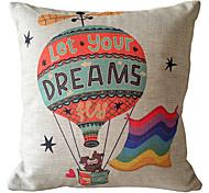 Ballon Bear Decorative Pillow Cover