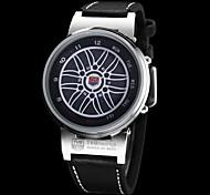 Masculina Azul Led Digital Dial Pu couro banda relógio de pulso (cores sortidas)
