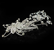 Fashion Silver Alloy Hair Comb For Women(Silver)(1 Pc)