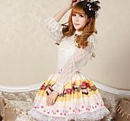 Yellow Angelic Pretty Candy Fairy Lolita Kawaii Skirt Lovely Cosplay