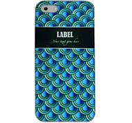 Blue Squama Pattern Back Case for iPhone 5/5S
