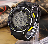 Men'S Mechanical Digital Silicon Band Sports Chronograph Watch