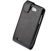 Elegant PU Leather Full Body Flip Case Cover for Samsung Galaxy W i8150-Black