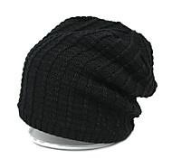 fino cor chapéu feito malha sólida dos homens