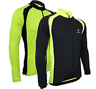 Arsuxeo Men's Cycling Jersey Long Sleeves Bike Bicycle Jersey Long Sleeve Outdoor Sporting Coat