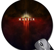 Personalized Gift Light Style Gaming Optical Round Mouse Pad (18x18cm)