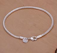 сладкие 20см женщин серебро медные цепи и ссылка браслет (серебро) (1 шт)