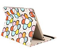 girasol pu diseño de materiales con el caso del soporte para el ipad Mini 3, Mini iPad 2, iPad mini