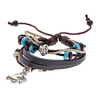 Unisex Fish Fabric Leather Bracelet