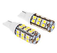 T10 3W 25x3020SMD 280LM 5500-6500K frío bombilla de luz blanca de LED para coche (12V, 2 unidades)