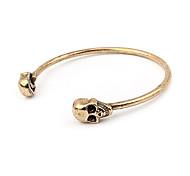 Unique Alloy Skull Open Bracelet