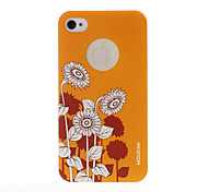 Sunflower Pattern Yellow Plastic Hard Case for iPhone 4/4S