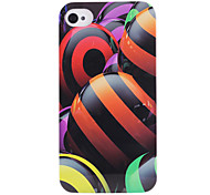 Colored Lines Ball Pattern ABS Back Case for iPhone 4/4S