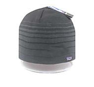 Двойная проверка толстый шерстяной вязаная шапка