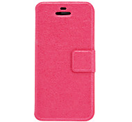 Silk Print Pattern PU Full Body Case with Card Slot and Stand for iPhone 5C (Assorted Colors)