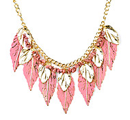 leaf plates colorful necklace,funkyNL-1887a,c