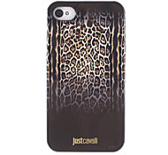 Stylish Leopard Print Pattern Black Smooth Anti-shock Case for iPhone 4/4S