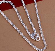 Collar dulce cadena de plata de cobre (1 PC)
