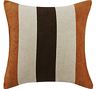 """18"""" Stripe Textured Polyester Decorative Pillow Cover"""