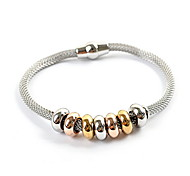 Stainless Steel Charming Bead Snack Chain Bracelet
