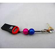 Multicolour Dust Plug With Card Reader For Anything Phone