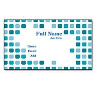 200pcs Personalized 2 Sides Printed Matte Film Dot Pattern Business Card