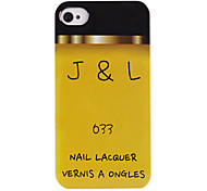 Yellow Nail Lacquer ABS Back Case for iPhone 4/4S