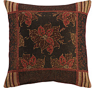 "18"" Squard China Flower Jacquard Polyester/cotton Decorative Pillow Cover"