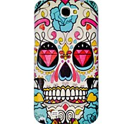 Diamond Skull Embossment Schilderen patroon plastic Hard Case Cover voor Samsung Galaxy Opmerking 2 N7100