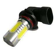 9006 16W 900lm 6500K 2-Cree XP-E + 4-COB LED White Light Car Headlamp - Silver (10~30V)