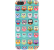 Green-soled Lovely Owls Pattern Smooth Hard Case for iPhone 5C