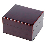 Brown Wooden Cuboid Watch Box