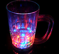 LED Flash Straight Beer Glass