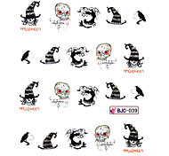 5PCS Water Transfer Print Cartoon Monster Pattern Nail Sticker(Assorted Colors,No.39-42)