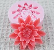 Um Buraco Flores Silicone Mold Fondant Moldes Sugar Craft Ferramentas Chocolate Mould para bolos