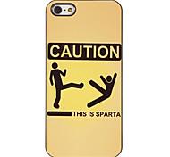 Altgriechisch Sparta Situation Muster PC Hard Case mit 3 Lunch HD Display-Schutzfolien für das iPhone 5/5S
