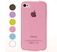 Sólido de color liso sentencia de TPU suave superficie para iPhone 4/4S