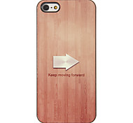 Arrow Indicating Keeping Moving Forward Pattern PC Hard Case with 3 Packed HD Screen Protectors for iPhone 5/5S