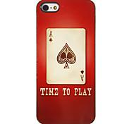 Poker von A Muster PC Hard Case mit 3 Lunch HD-Display-Schutzfolien für das iPhone 5/5S