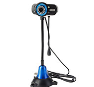 8.0 Megapixels USB 2.0 Clip-on Camera Webcam PC 4-LED