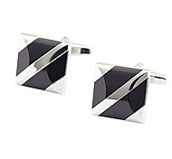 Stylish Square Black Agate Cufflinks(1Pair)