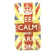 """Keep Calm and Carry On"" UK Flag Pattern Hard Case Cover for Samsung S5830 Galaxy Ace"