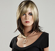 100% Japanese Kanekalon Synthetic Short Straight Wig(Mixed Color)