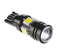 T10 7W 5x5050SMD 490lm 6000K Cool White Light LED-Birnen für Auto (12V, 1 PC)