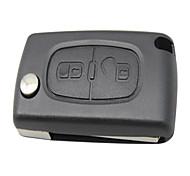 2 Button Flip Remote Key Shell for Citroen Peugeot