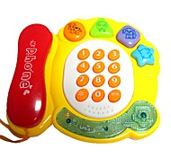 Electronic Musical Yellow Enlightment Phone Toy for Children