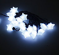 5M 15W 20-LED White Light Star Shaped LED Strip Light (220V)