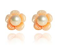 Korean Fashion   Lovely Flower Pearl Earrings